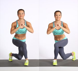 Curtsy Lunge Exercise for Bigger Bums