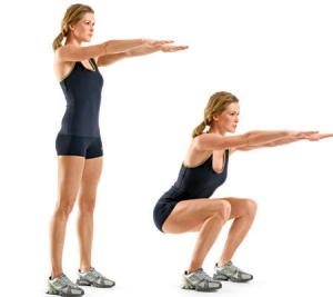 Squats - 10 Best Exercises to Lose Thigh Fat Fast in a Week at Home