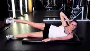 Side Crunch Leg Raise