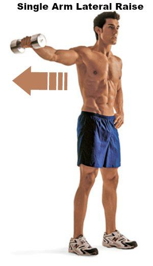 Single Arm Lateral Raise - 10 Best Shoulder Exercises to Tone and Lose Arm Fat Fast