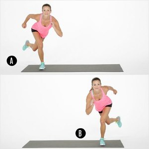 Slimming Skaters -7 Best Leg Exercises for Women at Home: Slim and Toned Legs