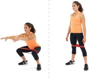 Banded Squats- 10 Best Resistance Band Exercises for Legs and Glutes