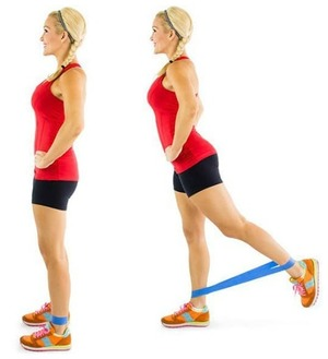 Standing Glute Squeeze- 10 Best Resistance Band Exercises for Legs and Glutes