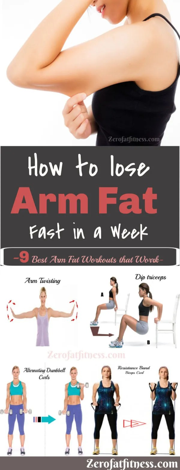 How to Lose Arm Fat Fast in a Week. 9 Best Arm Fat Workouts