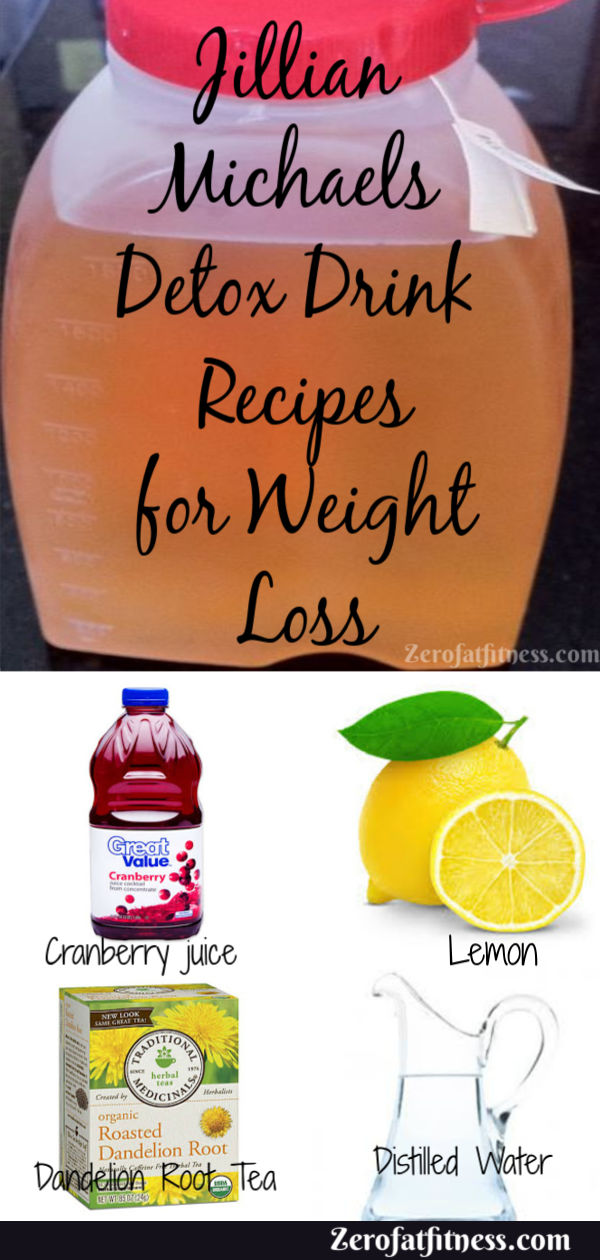 Jillian Michaels Detox Drink Recipes for Weight Loss