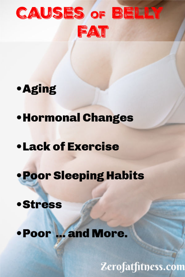 11 Best Flat Stomach Exercises to Lose Belly Fat in a Week at Home- Causes of belly fat