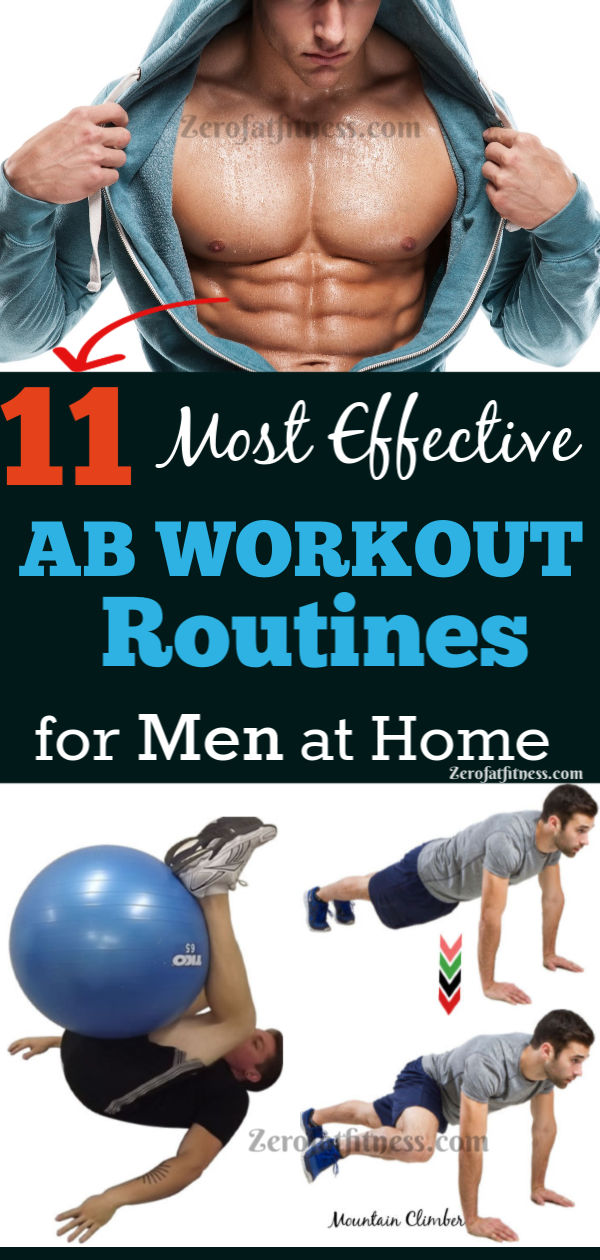 11 Most Effective Ab Workout Routines for Men at Home to Get Six Pack
