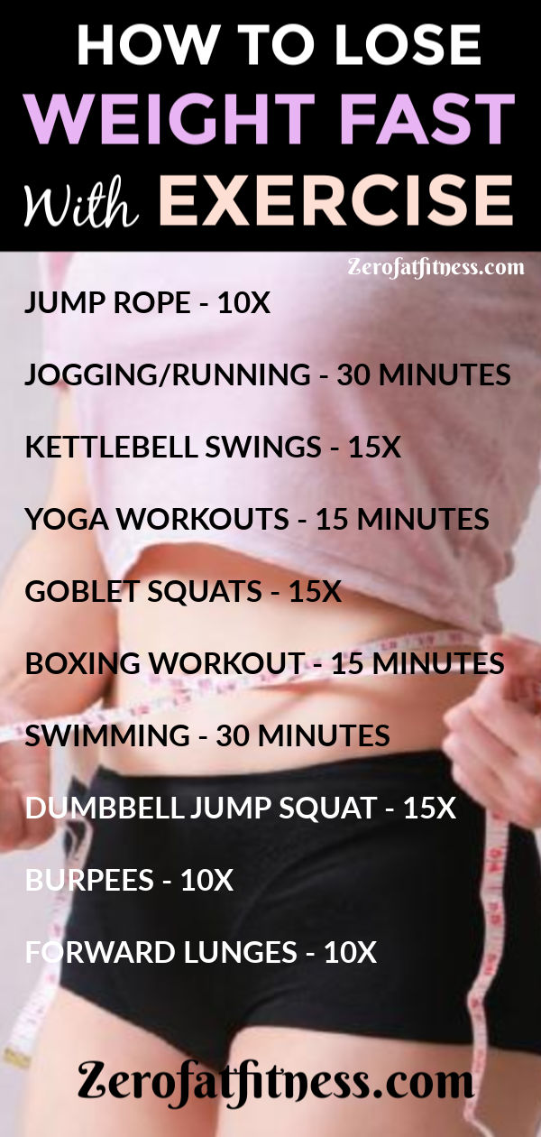 How to Lose Weight Fast with Exercise-Try these 10 Workouts at Home