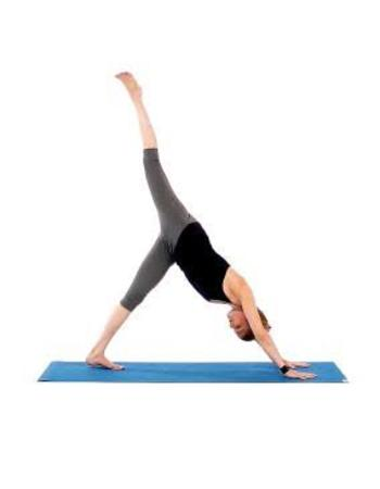 Downward Dog Variation- Yoga poses for flat Abs. 10 yoga poses to reduce belly fat and get flatter stomach