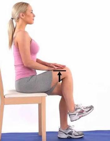 Seated Hip Marches chair exercise for senior