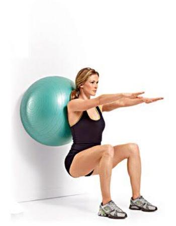Swiss Ball Wall Squat