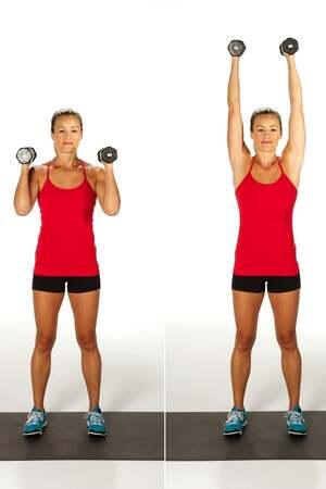 shoulder press arm exercises