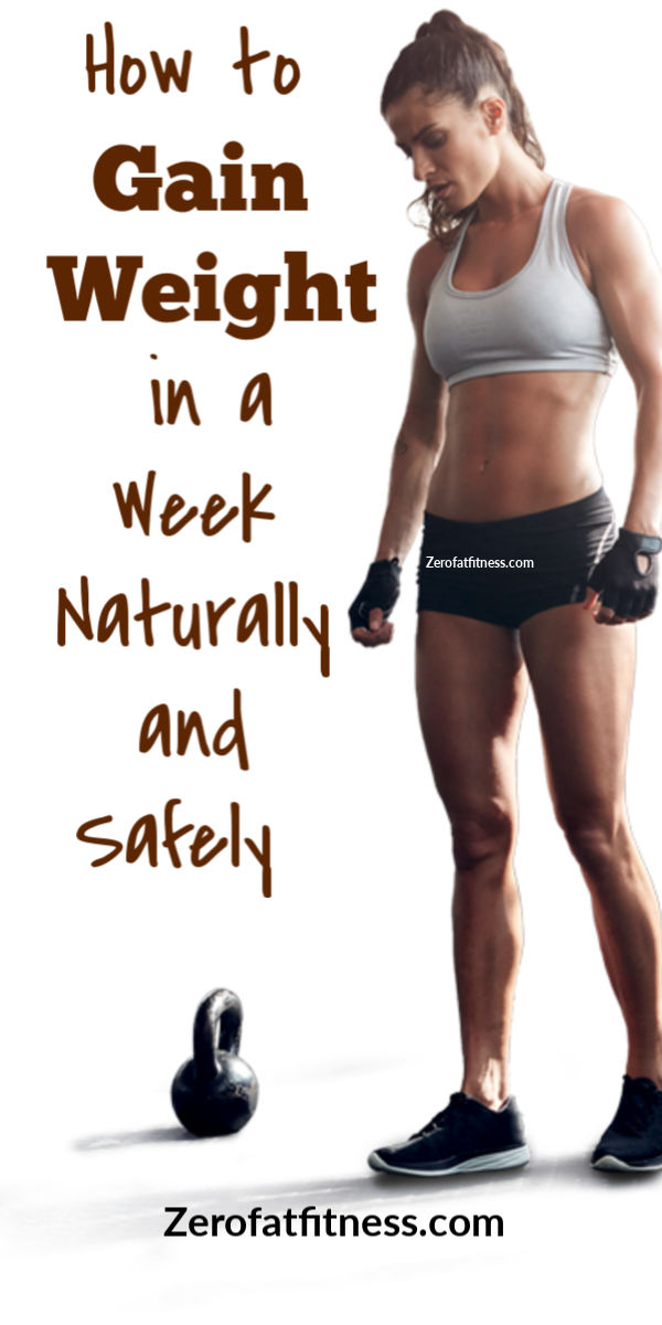 How to Gain Weight in a Week Naturally and Safely with Workouts at Home