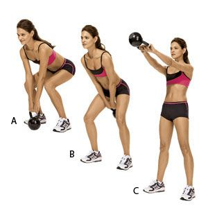 Kettle Bell Swing - 11 Easy Ab Exercises to Tone Stomach in 2 Weeks at Home