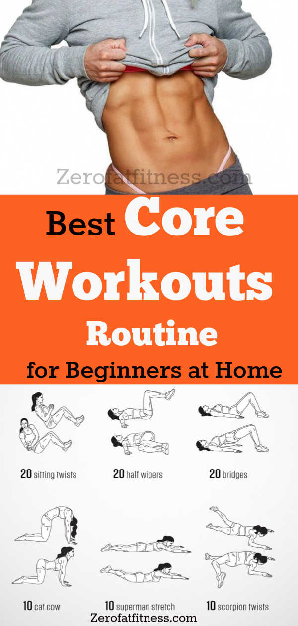 11 Best Core Workouts Routine for Beginners at Home- Get