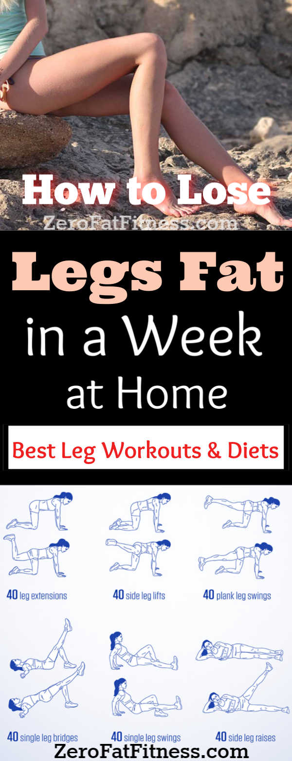 How to Lose Weight in Your Legs in a Week at Home + Leg Workouts and Diets