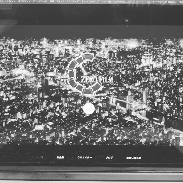 ホームページをプチリニューアル中です。カラーで見たい方はホームページまで!笑プロフィールのリンクからお願いします。.#撮影#動画#動画制作#映像制作#東京#動画編集#ZEROFILM#企業pr動画#プロモーションビデオ#映画制作#ビデオグラファー#ホームページリニューアル #hp#videography#ホームページ用動画