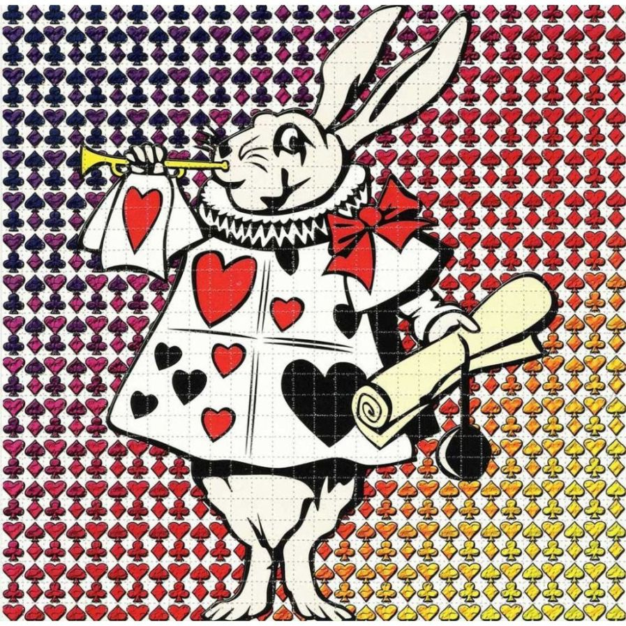 White Rabbit Blotter Art