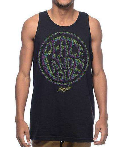 MENS PEACE AND LOVE TANK