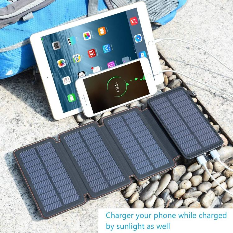Solar powered battery for the sustainable traveler