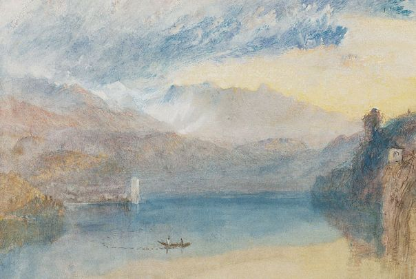 J M W Turner: The Sarner See (Lake Sarnen), Evening c.1842, watercolor.j
