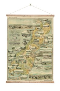 9832_South_Island_Vintage_Wall_Map_on_Canvas