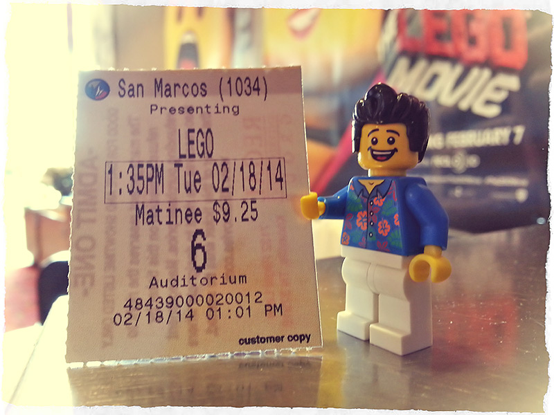 Bill Dollar thinks this ticket to the LEGO Movie is much larger than necessary.