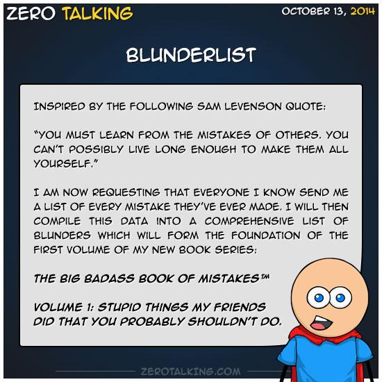 blunderlist-zero-dean