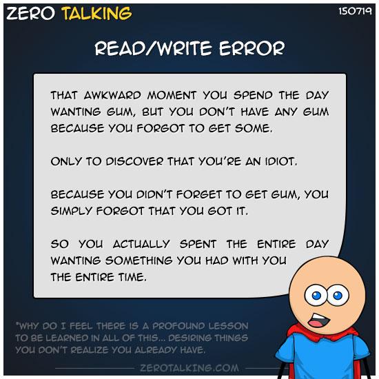 read-write-error-zero-dean
