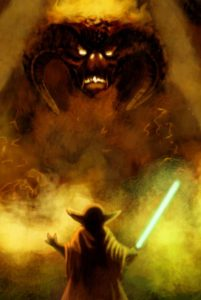 Yoda Versus The Balrog