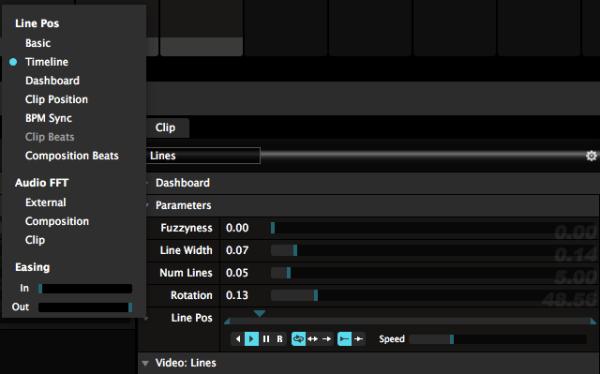 Resolume animation settings