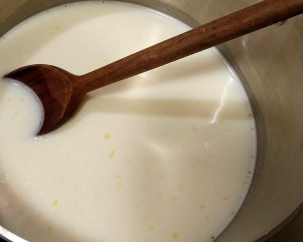 2 Stir milk