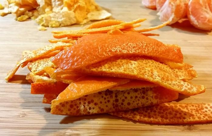dissected mandarins