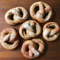 Soft Sourdough Pretzels