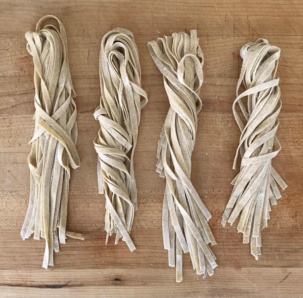 Homemade Eggless Sourdough Pasta