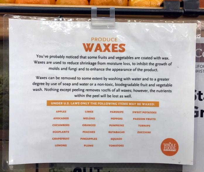 produce wax