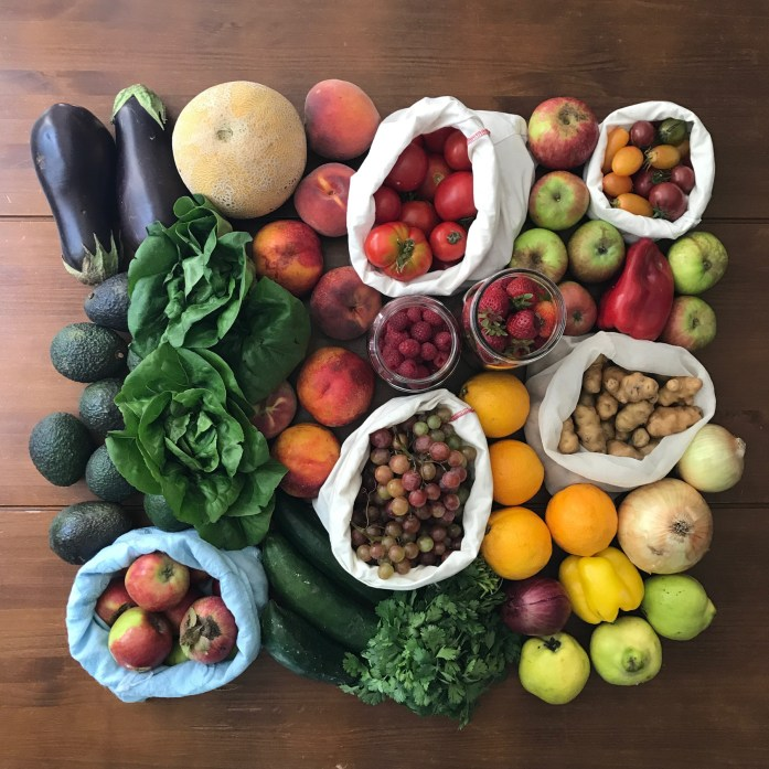 zero waste farmers market produce