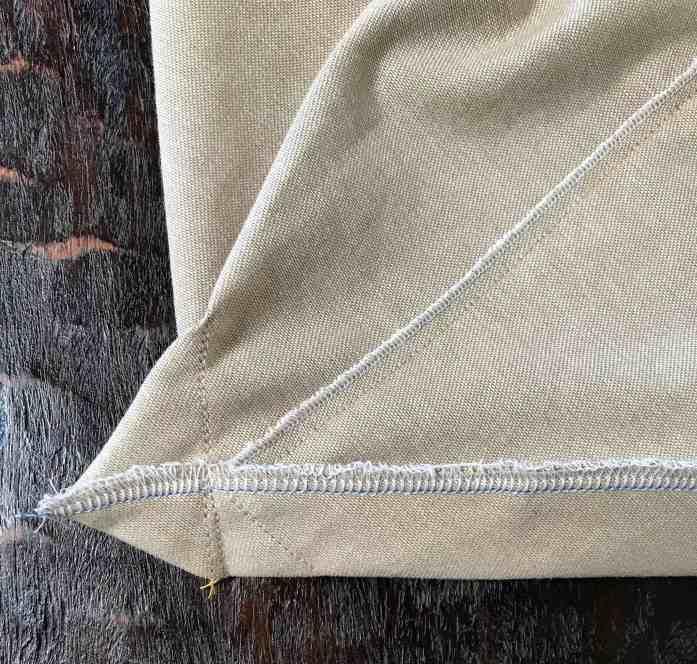 sew a flat bottom