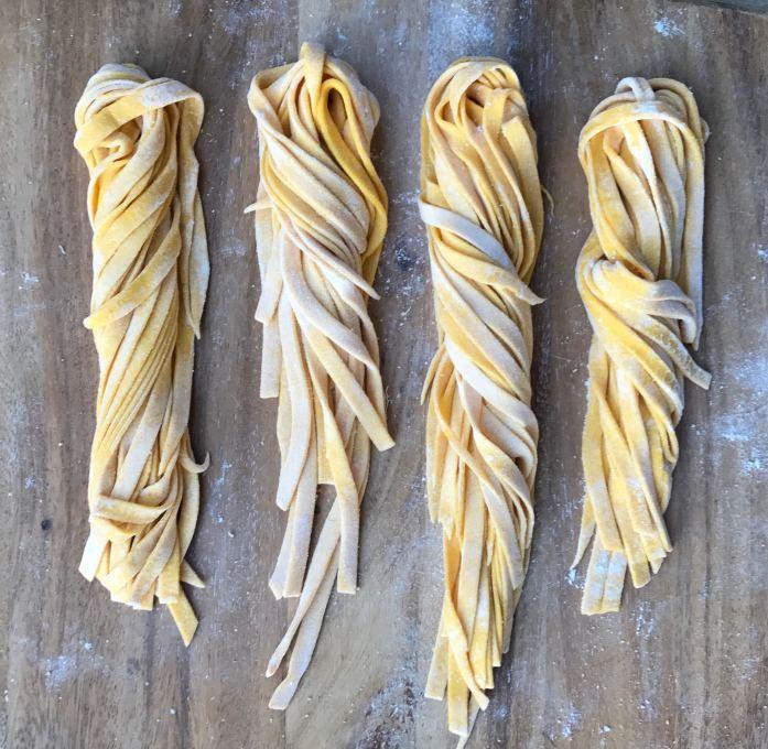 fresh homemade pumpkin pasta