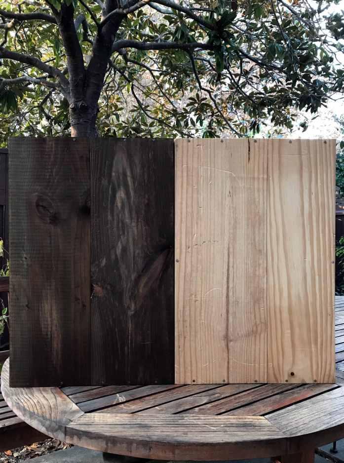 homemade vinegar rust wood stain