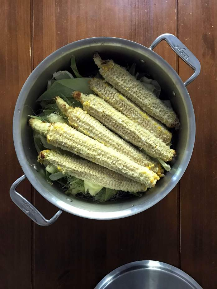 use all the parts of the corn for corn cob broth