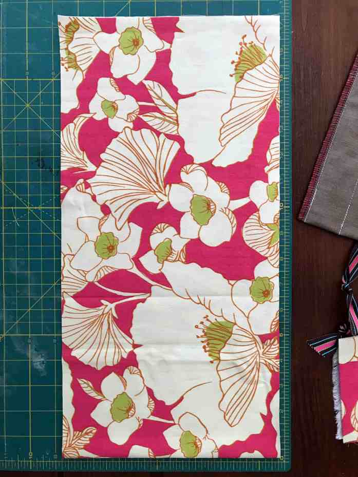 fabric cut for a utensil roll