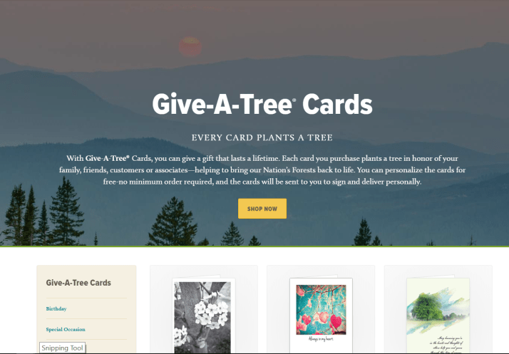 Arbor Day Give-A-Tree Holiday Cards