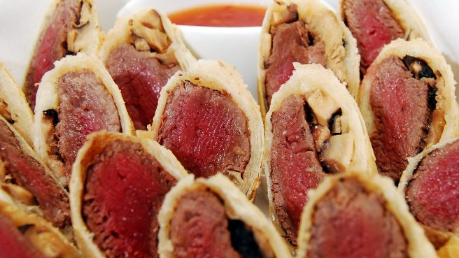 Beef and Shitake Mushroom Spring Rolls