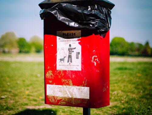 Dog poo garbage can