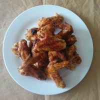 Sumac and garlic chicken wings