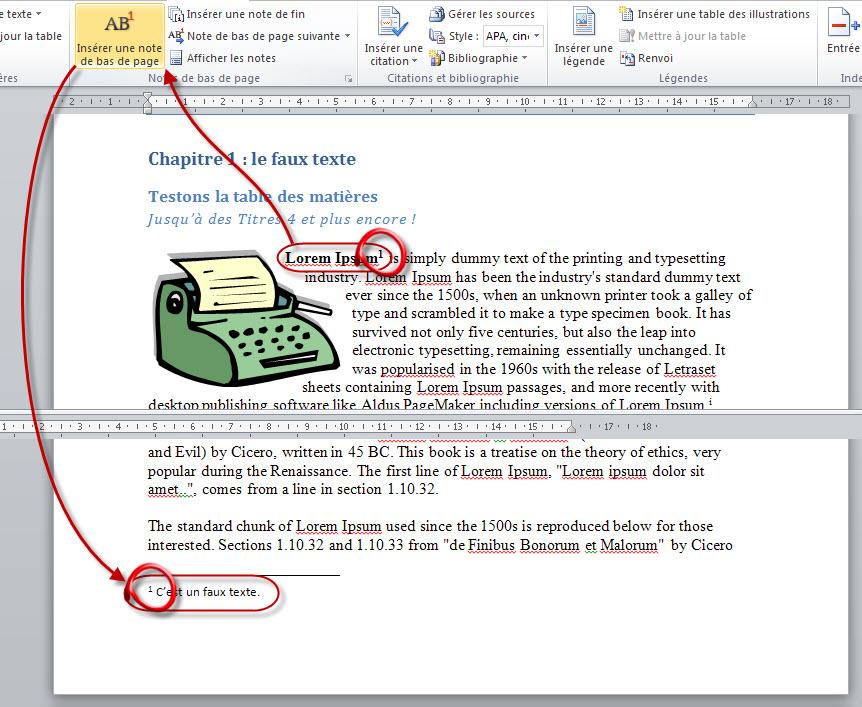 referencez votre document traitez