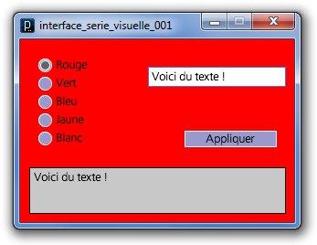 Une interface réalisée avec Processing