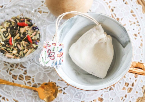 Sachet de thé réutilisable