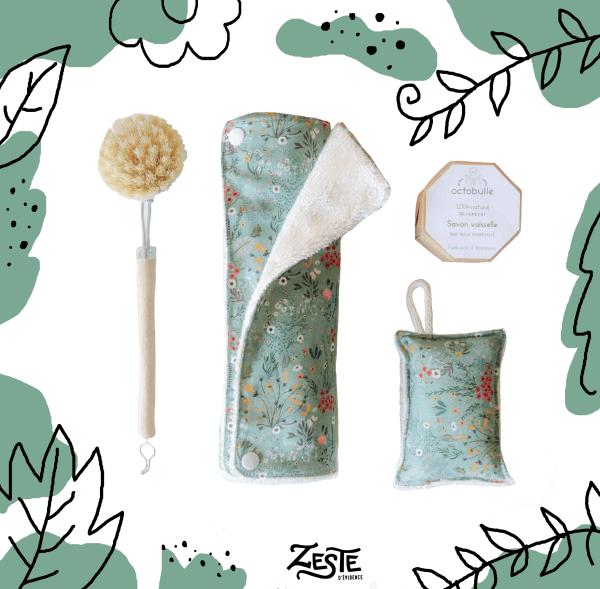 Kit vaisselle zéro-déchet Flowery Meadow